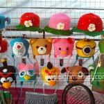 ถักหมวกโครเชต์เด็กหมวกไหมพรมโครเชต์เปิดท้ายขายตามตลาดนัด